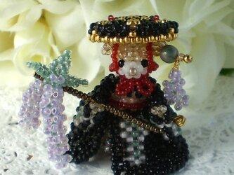 藤娘 黒×浅紫の画像