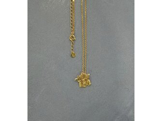 The world map accessory  France necklace ゴールドカラーの画像