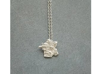 The world map accessory  France necklace Silver925の画像