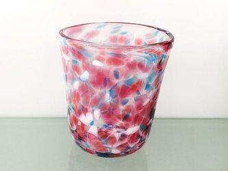 彩グラス(桃と水色05)の画像