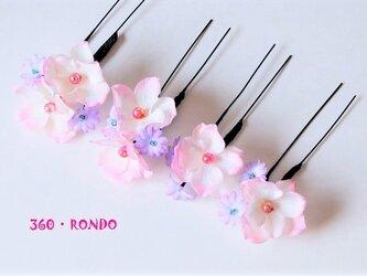 髪飾り4個セット ★ 「花の妖精(ピンク)」の画像