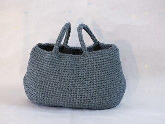 裂き編みバッグ 横長 Lサイズの画像