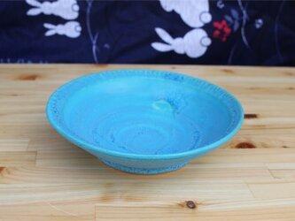 トルコブルー深皿[18May-1]《釉薬》の画像