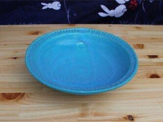 トルコブルー深皿[18May-2]《釉薬》の画像