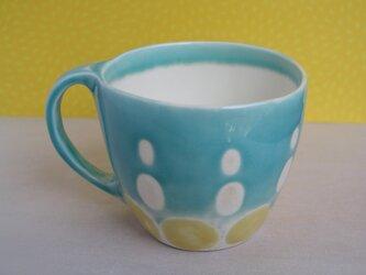 マグカップ (舞い上がるドット)の画像