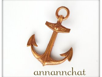 【ビンテージ anchor イカリ(錨)の ピンブローチ】ラペルピン 男女兼用 夏 海 船の画像