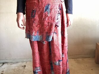 手織り布のいろいろに着こなせるスカートの画像