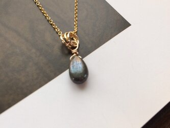 14KGF 14kgf Golden Pyrite drop necklacesの画像