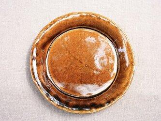 hirahiraまる皿(茶色)の画像