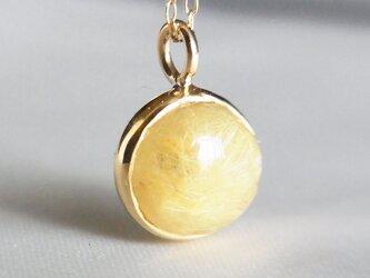 Luna ゴールドルチルクオーツネックレス -温かく包みこむ-の画像
