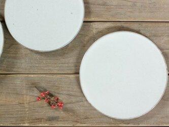 白い陶板のお皿(小/無)の画像