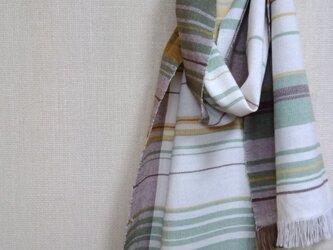 手織りミニマフラー ~草木染・綿~の画像