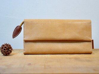 <送料無料>★総手縫い★牛革のたっぷり収納長財布の画像