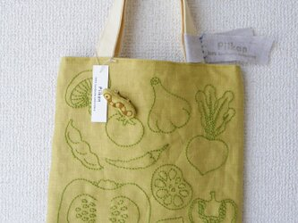 お野菜トートバックpart2_greenの画像