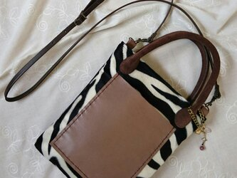 *zebra shoulder bag*  2wayゼブラショルダーバッグの画像