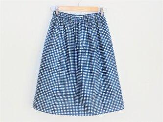 チェック柄スカート C100%の画像