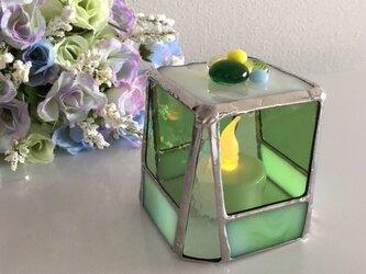 『スイート ナイト』LEDキャンドルホルダー メロングリーン ガラス by ベイビューの画像