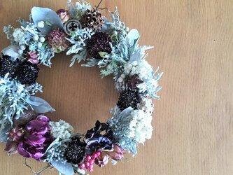 直径22㎝ ナチュラルで大人可愛い春リース 母の日の贈り物にもの画像