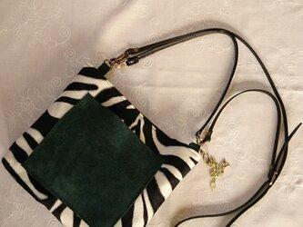 *zebra shoulder bag*  3wayゼブラショルダーバッグの画像