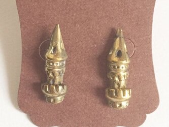 おとき話のお城 /ピアス(両耳ペア) 真鍮製の画像
