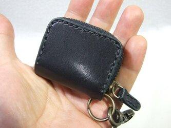 ミニファスナーコインケース サドル黒の画像