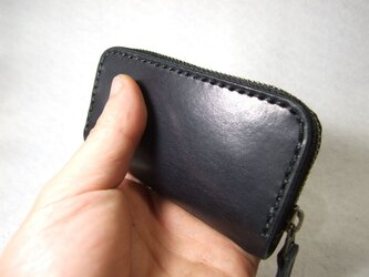 ファスナーコインケース 黒x黒の画像