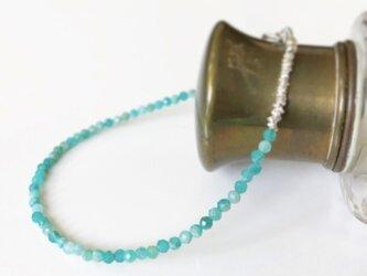 russian amazonite*silverbraceletの画像