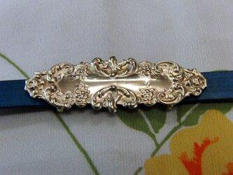 真鍮ブラス製 レトロゴシックデザイン風型帯留め 着物や浴衣の帯締め飾り・チョーカー飾りにの画像