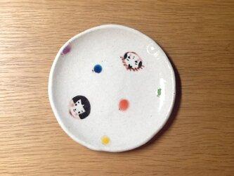 こけし小皿 水玉の画像