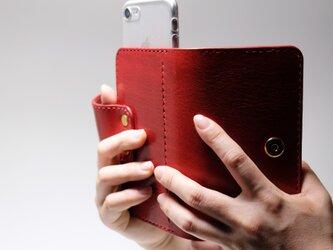 スライド式 iPhone ケース・カバー /イタリア産高級レザー *受注製作 の画像