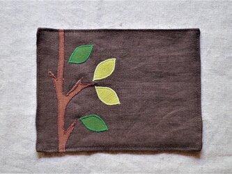 カフェマットこげ茶 木の画像