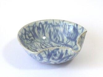 鉢(扇面 つる花紋)の画像