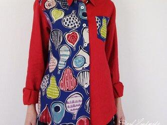 [予約販売] リネンスカーレットと無花果羽織りシャツの画像