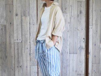 ¥3000-off bansyuori  wide shirt  テンセル ワイドシャツの画像