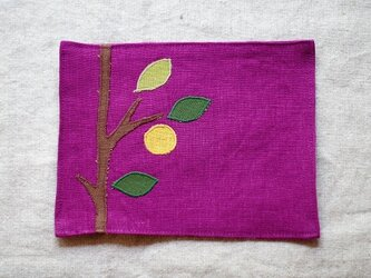 カフェマット紅紫色 夏みかんの画像