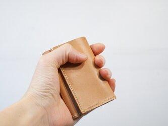 ★総手縫い★牛革の極小三つ折り財布ヌメ♪☆おまけ付き☆の画像