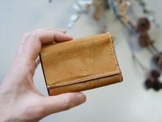 ★総手縫い★山羊革の極小三つ折り財布♪☆おまけ付き☆の画像