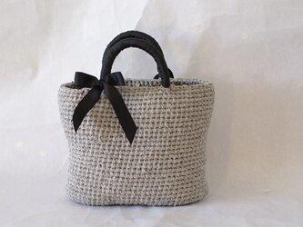 裂き編みバッグ 【リボン取り外し可】の画像