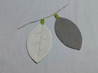 葉っぱのコースターの画像