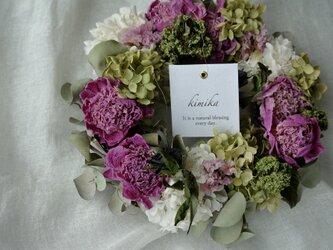 芍薬の花かんむりwreathの画像