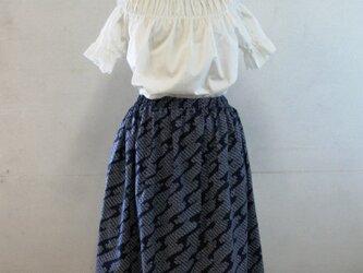 浴衣地  匹田模様のゴムスカート Fサイズの画像