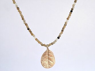 Feijoa leaf necklace (middle) {P075K10(NS)}の画像