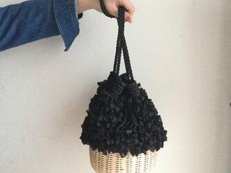 籐とかぎ針編みのバッグMeggBag poche /かごバッグの画像