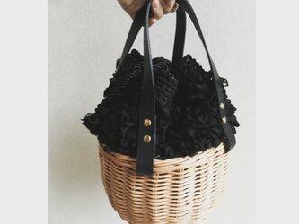 籐とかぎ針編みのバッグMeggBag marche /かごバッグの画像