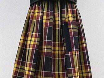 古布綿のギャザースカートの画像