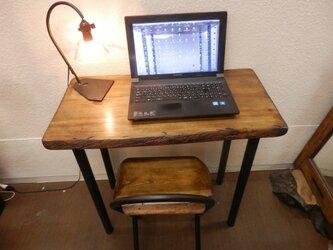 ひのきアイアンテーブルイスセット05-06の画像