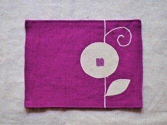 カフェマット紅紫色 つる花bの画像