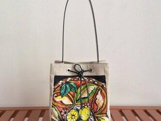 シチリアーナ風バケツ型ミニバッグの画像