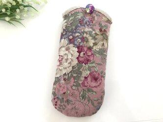 メガネケース アンティークフラワー ピンクの画像