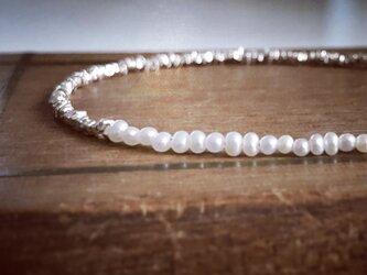 受注製作*karen silver*pearl*braceletの画像